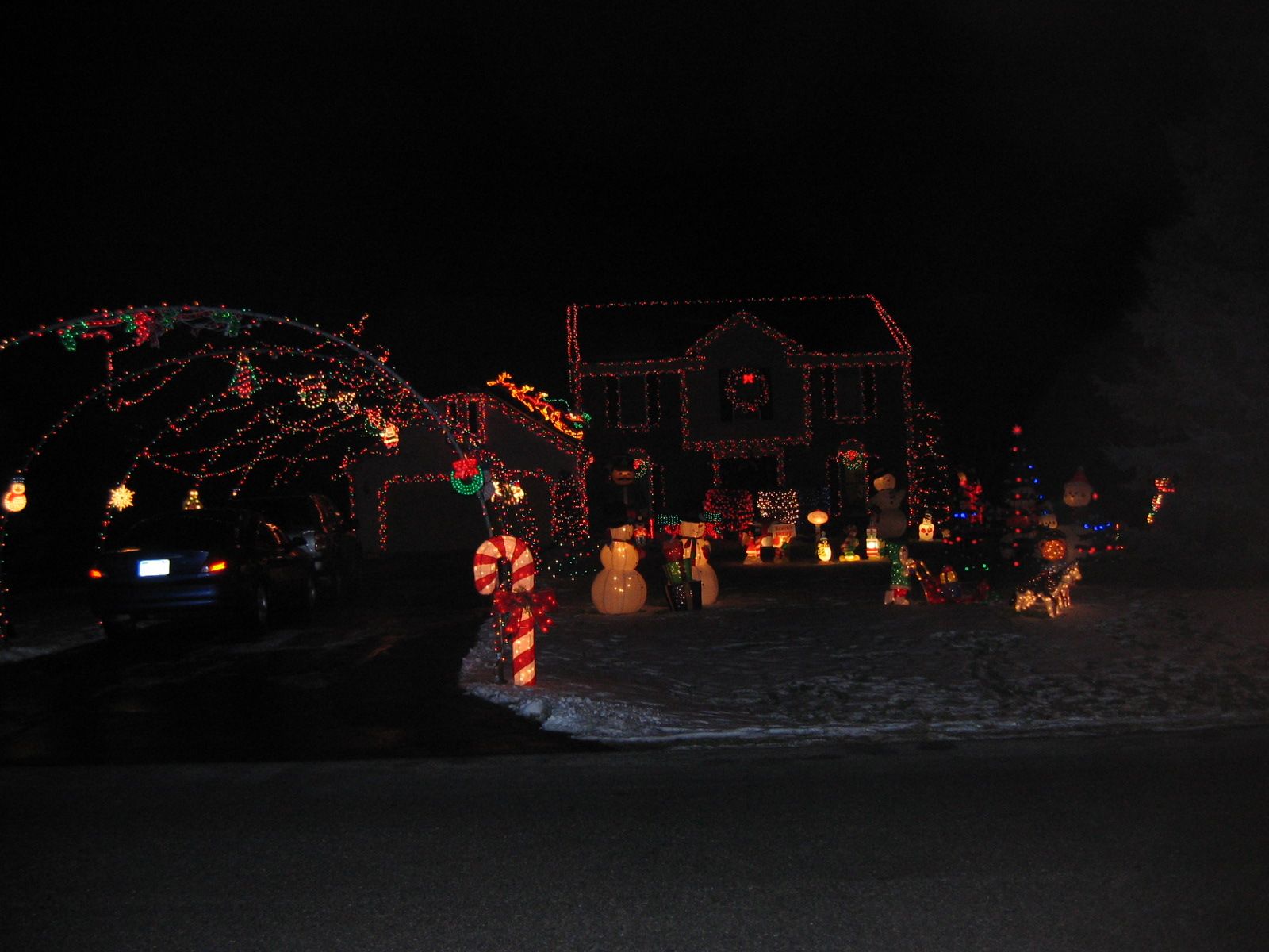 Decked out Christmas House
