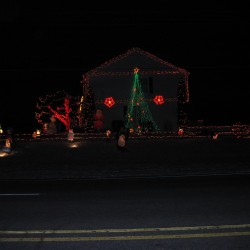 Decked out Christmas House 2