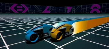 Pic of light cycles from the movie TRON