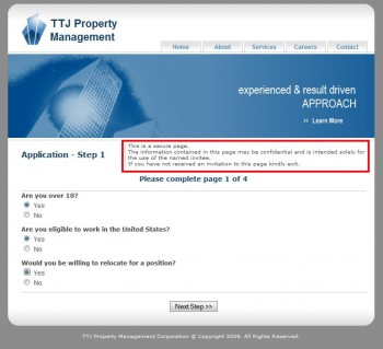 Pic of the TTJ application screen.