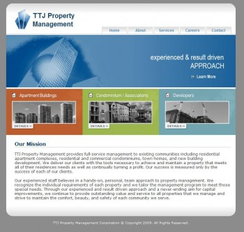 Pic of TTJ Project Management main page.
