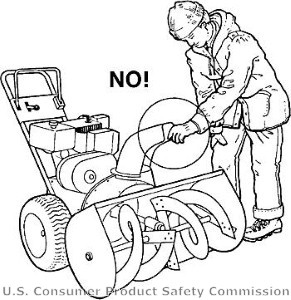 SEB Safety Tip: Clogged snowblowers should be cleaned with a stick ...