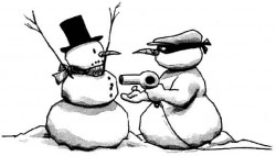 Pic of a snowman thief.
