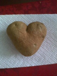 Pic of heart shaped potato.