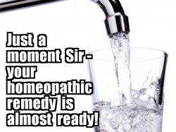 Homeopathy demotavational poster.