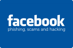 Pic of Facebook scam logo.