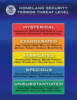 Puc of old threat level system.
