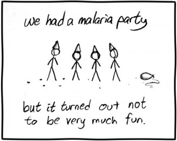 The malaria party was David's idea.