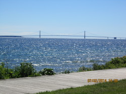 The mighty Mackinac Bridge.