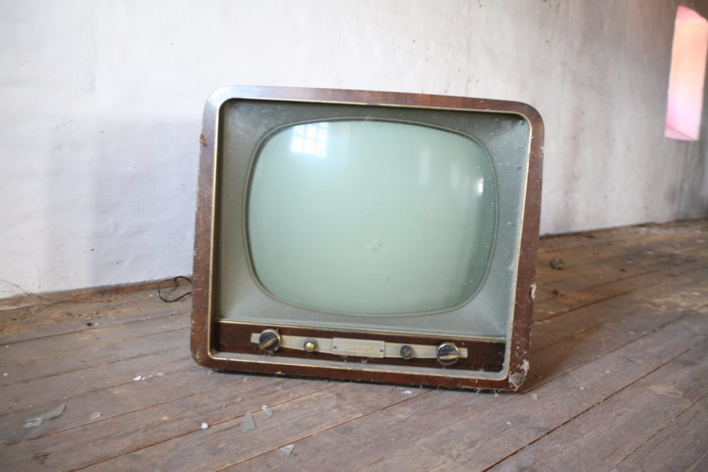 Photo of old TV set.